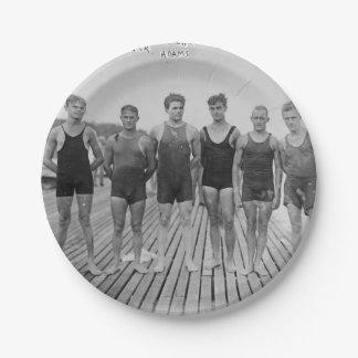 Tenga barbacoa de la playa y traiga a equipo 1912 plato de papel de 7 pulgadas