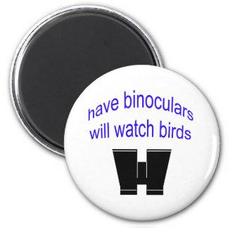 tenga binos mirará pájaros imán redondo 5 cm