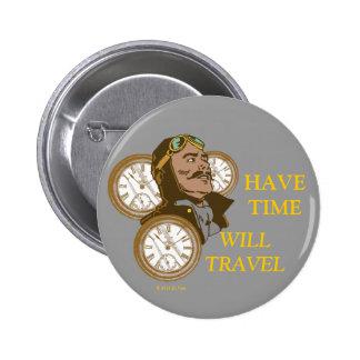 Tenga botón del tiempo pin redondo de 2 pulgadas