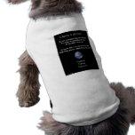 Tenga camisetas de un perrito del sueño ropa perro