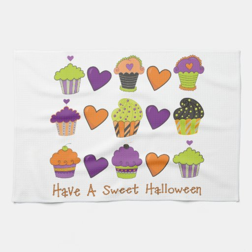 Tenga camisetas dulces de una magdalena de Hallowe Toallas