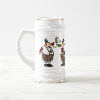 Tenga cerveza, beberá el blanco/el oro Stein #1 Jarra De Cerveza