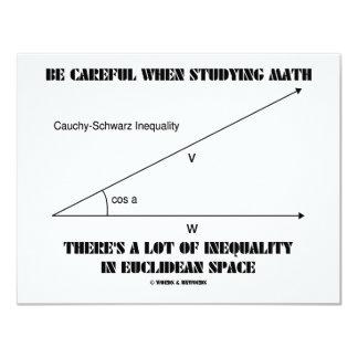 Tenga cuidado al estudiar la desigualdad de la invitación 10,8 x 13,9 cm