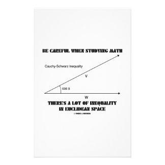 Tenga cuidado al estudiar la desigualdad de la mat papeleria personalizada