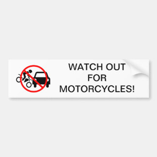 Tenga cuidado para las motocicletas pegatina de parachoque