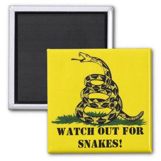 ¡Tenga cuidado para las serpientes Imán De Nevera