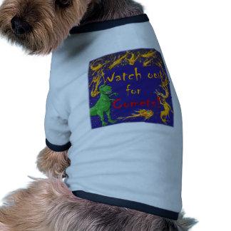 ¡Tenga cuidado para los cometas! Camiseta Con Mangas Para Perro