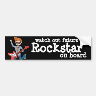Tenga cuidado Rockstar futuro a bordo pegatina par Etiqueta De Parachoque