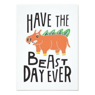"""Tenga el día de la bestia nunca invitación 5"""" x 7"""""""