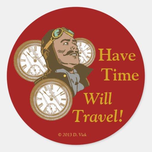 Tenga el pegatina del tiempo