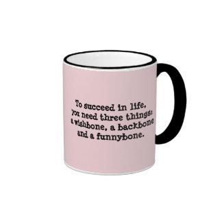 Tenga éxito en taza de la vida
