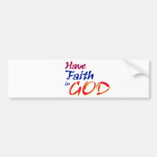 Tenga fe en DIOS Pegatina Para Auto
