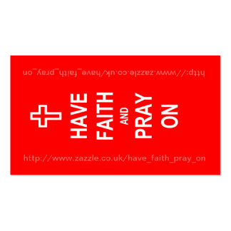 Tenga fe y ruegue en tarjeta de visita