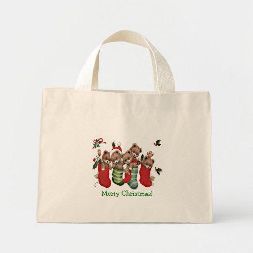 ¡Tenga Felices Navidad de un Beary! - Tote minúscu Bolsa De Mano