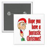 Tenga Felices Navidad fantásticas, divertidas. ¡Em Pin