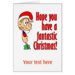 Tenga Felices Navidad fantásticas, divertidas. ¡Em Felicitacion