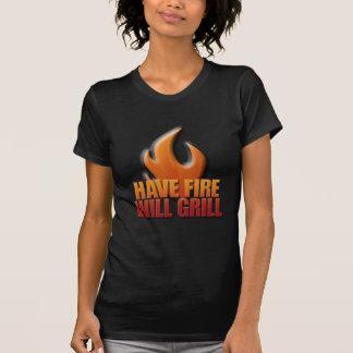 Tenga fuego asará a la parrilla remera