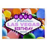 Tenga globos fabulosos de un cumpleaños de Las Veg Tarjeton