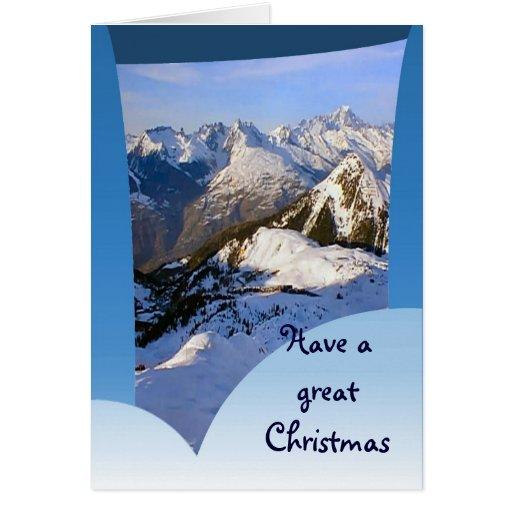 Tenga gran navidad, montañas francesas tarjeta de felicitación