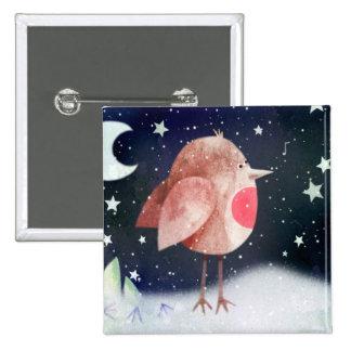 Tenga navidad alegre - insignia del botón pin cuadrado