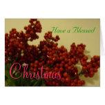 Tenga navidad bendecido felicitacion