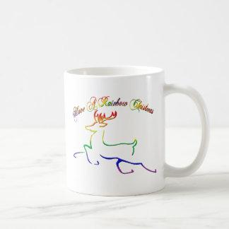 Tenga navidad de un arco iris taza de café