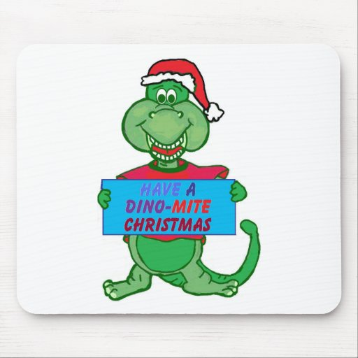 tenga navidad de un Dino-ácaro Alfombrilla De Ratón
