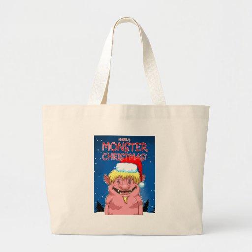 Tenga navidad de un monstruo bolsa