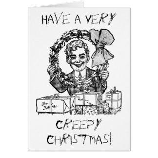 ¡Tenga navidad espeluznante! Tarjetas