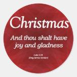 Tenga navidad Lucas 1-14 de la alegría y del Gladn Etiquetas