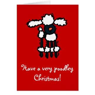 ¡Tenga navidad mismo de un poodley Felicitaciones