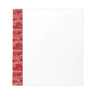 Tenga navidad musical blocs de papel