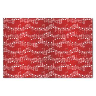 Tenga navidad musical papel de seda pequeño