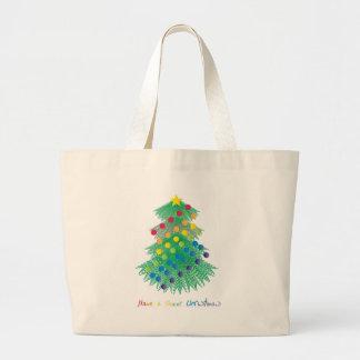 Tenga navidad raro bolsa tela grande
