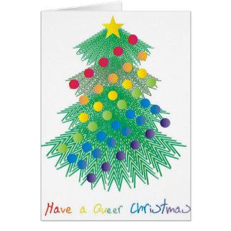 Tenga navidad raro tarjeta de felicitación