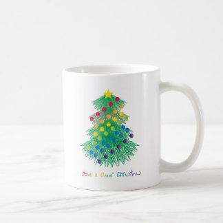 Tenga navidad raro taza básica blanca