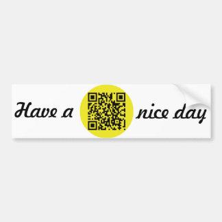Tenga Niza un día [QR] Pegatina Para Auto
