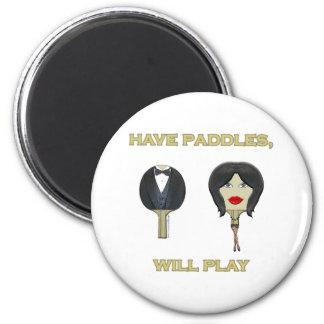 Tenga ping-pong de las paletas imán redondo 5 cm