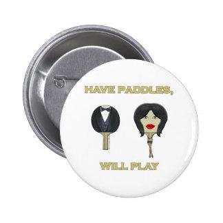 Tenga ping-pong de las paletas pin redondo 5 cm
