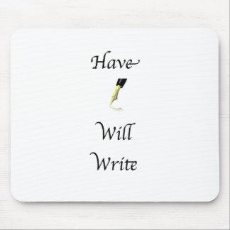 Tenga pluma escribirá mouse pads