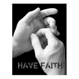 Tenga postal de la fe