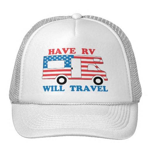 Tenga rv viajará América Gorros