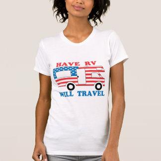 Tenga rv viajará América Camisetas