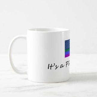 Tenga su café con orgullo taza básica blanca