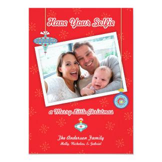 Tenga su Selfie una feliz pequeña tarjeta de Invitación 12,7 X 17,8 Cm