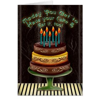 Tenga su torta #4 (la tarjeta de cumpleaños)