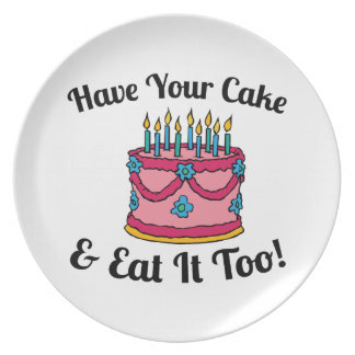 Tenga su torta platos de comidas