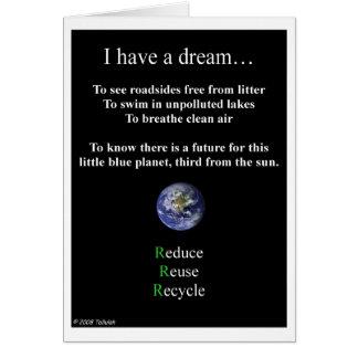 Tenga tarjetas de un sueño