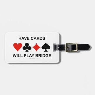 Tenga tarjetas jugará el puente (cuatro juegos de etiquetas bolsa