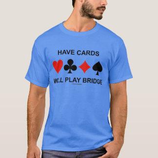 Tenga tarjetas jugará el puente (cuatro juegos de playera